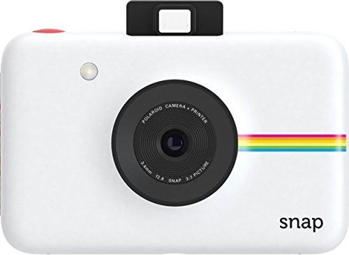 【データも保存できる】ポラロイドSnapデジタルインスタントカメラ(ホワイト)プリンタ内蔵ZINKフォトペーパー対応(White)