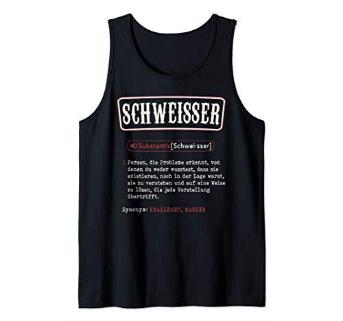 Herren Schweisser T-Shirt. Lustige Schweißer Wörterbuch Definition Tank Top