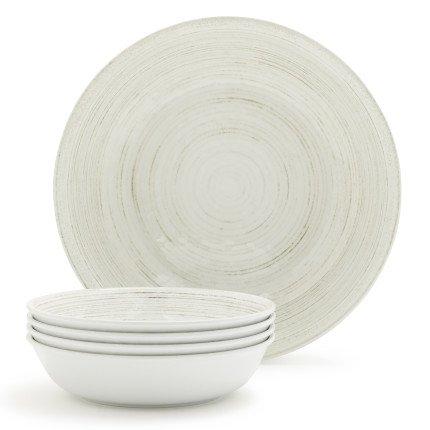 Sur La Table Driftwood Melamine Pasta Bowls, Set of 5