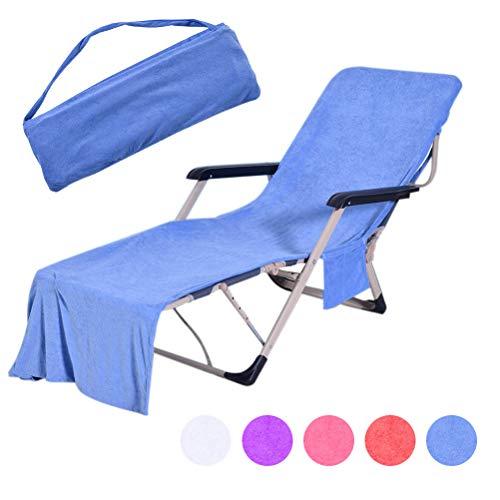 Auplew Liegestuhl Strandtuch Sonne Urlaub Garten Schwimmbad Lounge Taschen Tragetasche Stühle Abdeckung Schonbezug Handtuch