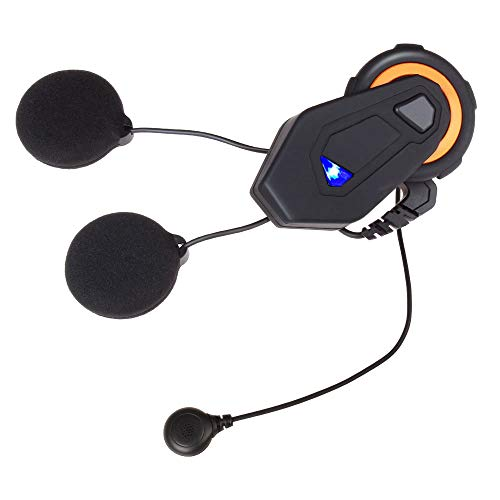 Great Features Of Motorcycle Bluetooth Headset Intercom Communication System Support 6 People Connec...