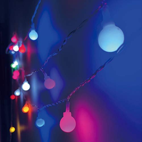 LED Globe String Lights, 19.7ft 40 LED Battery Powered, 8 Modes with Remote, Waterproof for Bedroom, Garden, Christmas Tree, Windowsill, Patio, Yard, Wedding, Birthday Party Decoration (Multi Color)