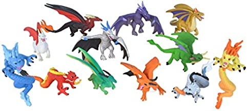 Wild Republic Dragon Figurines Tube, Dragon Toys, Twelve Dragon Figures with Six Different Poses