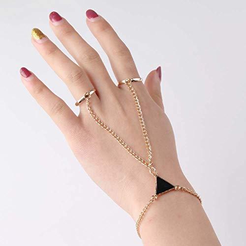 Hwjmy Pulsera de mariposa de cristal de oro para mujer, cadena de muñeca, brazaletes de cadena de mano, adornos de eslabones de brazo femenino (color de metal: dorado)