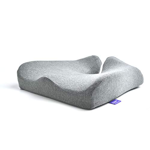 Cushion Lab Patented Pressure Relief Seat Cushion for Long Sitting Hours on Office amp Home Chair  ExtraDense Memory Foam for Soft Support Chair Pad for Hip Tailbone Coccyx Lower Back Pain Relief
