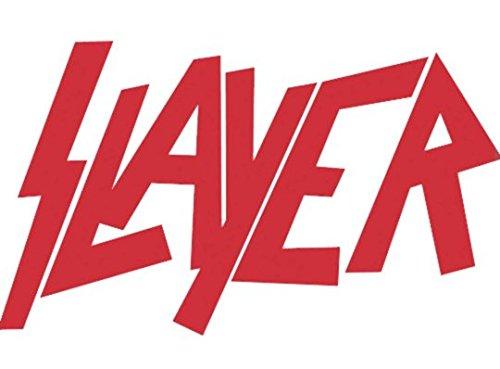 Slayer, logo / tuning sticker, vinyl / (15cm) high quality product / spitzen qualität !!! + Farbwahl (rot)