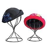 Walkretynbe Kopf Modell Hohl Ballon Metall Perücke Haarteil Stand Tabletop Dekorative Hutkappenhalter Hohl Stil Huthalter Groß