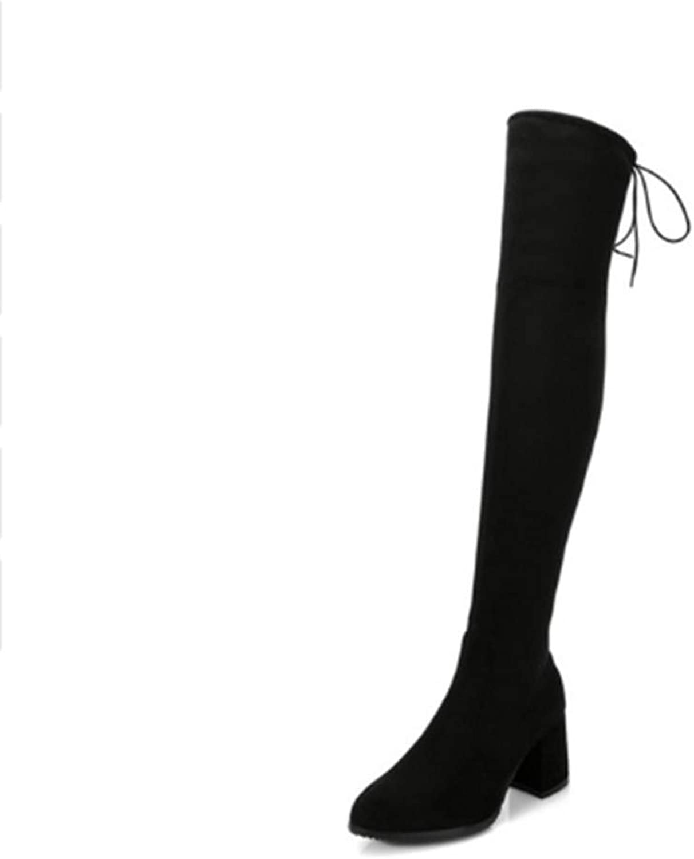 FMWLST Stiefel Frauen Über Das Knie Hohe Stiefel High Heels Winter Stiefel Hohe Qualität Party Schuhe Frauen Modelle  | Großer Räumungsverkauf