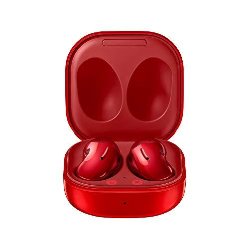 SAMSUNG Galaxy Buds Live Auricolari True Wireless Open-type senza tappi In-Ear, Tre Microfoni, Controlli Touch, Wireless, Cancellazione attiva del rumore, Rosso (Mystic Red) [Versione Italiana]
