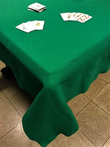 SpazioTessile Tovaglia Copritavolo Mollettone Salvatavolo Feltro Panno Verde Gioco Poker (140x240)