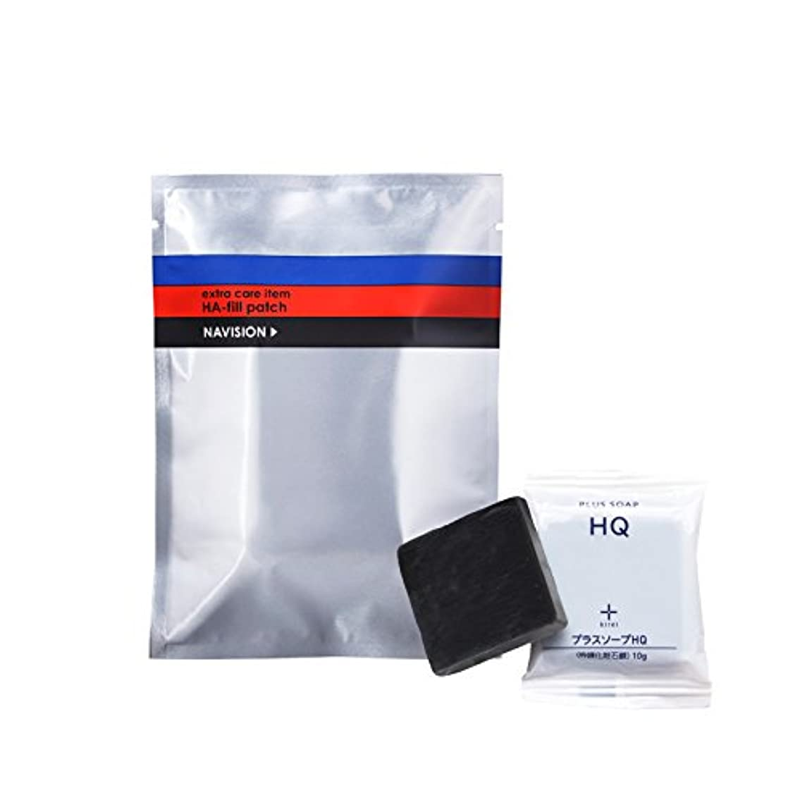 虐待腹痛補うナビジョン NAVISION HAフィルパッチ(2枚×3包入) + プラスキレイ プラスソープHQミニ