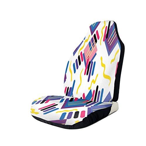 Joe-shop Autositze Decken lustige 80er Jahre 90er Jahre Retro Neon Mode Schalensitz Protector Universal Flexible Vordersitze Decken