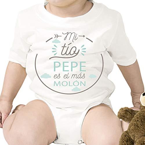 Regalo personalizado: body para bebé 'Tío Molón' personalizado con parentesco y nombre