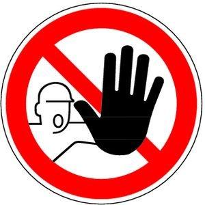 1372. Toegang voor ongeoorloofde verboden D-P006 - Folie