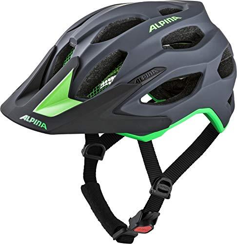 Alpina Unisex– Erwachsene CARAPAX 2.0 Fahrradhelm, Charcoal-Green, 57-62 cm