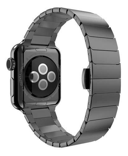 Pulseira Aço Inoxidável P/Smartwatch Preto Cobra 42mm 44mm