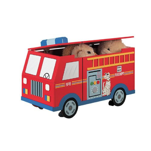 FIRE ENGINE TOY BOX KIDS