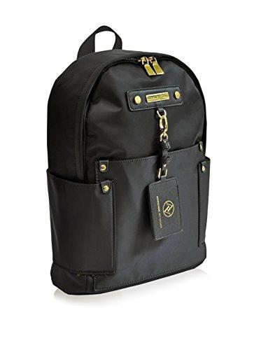 Adrienne Vittadini Travel Light Backpack, Black, 16X11X5