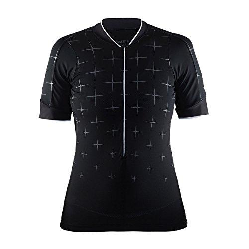 Craft Damen Belle Glow Jersey W Trikot, Black/White, M