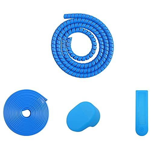 QOTSTEOS Kit de protección de cambio de color para scooter eléctrico, accesorios de repuesto para Xiaomi M365 (azul)