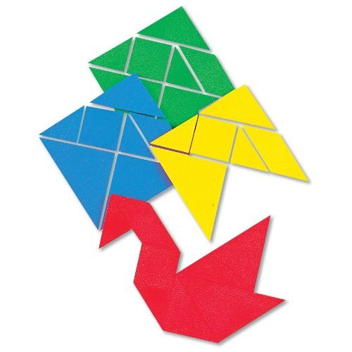 ETA hand2mind Small Plastic Tangrams, Set of 4