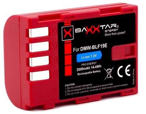Baxxtar Pro Ersatz für Akku Panasonic DMW BLF19 E mit Infochip - für Panasonic Lumix DC G9 GH5 GH5s DMC GH3 GH4 GH4R / Sigma BP-61 usw.