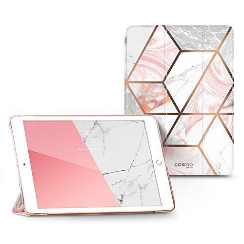 i-Blason Custodia iPad 10.2  8a 7a Generazione 2020 2019 Cover Protettiva con Trifold Cavalletto [Cosmo Lite] Glitter Case per iPad 10,2 pollici 2020 2019, Marmo