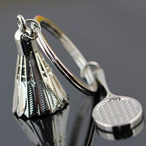1 Pack Badminton Racket Shuttlecock Keyring Pendant Teenagers Keys Hook Hooks Key Tag Best Popular Pocket Girls Bag Car Keychains