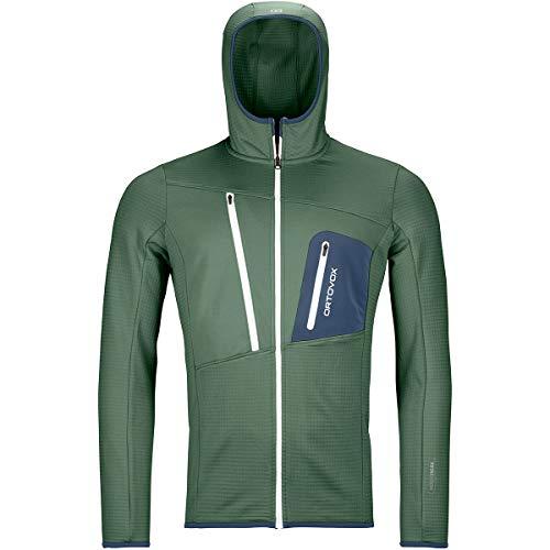 Ortovox Herren Hoody Fleece Grid, Green Forest, S, 8721100006