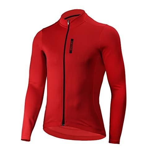 Catena Abbigliamento Ciclismo Maglia da Uomo Manica Lunga per Bici Asciugatura Rapida Traspirante Cycling Jersey Estivo