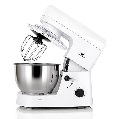 MURENKING Stand Mixer SM168 650W 5Qt 6Speed TiltHead Kitchen Electric Food Mixer with Accessories White