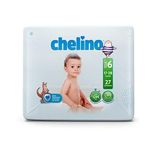 Chelino Junior Talla 6 (17-28 kg), 162 Pañales