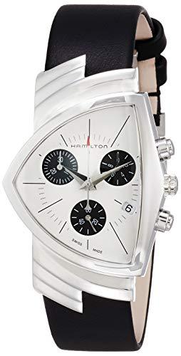 Hamilton H24432751 Ventura Chrono - Reloj Unisex de Cuarzo y Cuero Neg