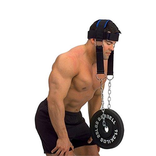 Rokoo Kopfgurt Strengh Übungsgurt mit Kette Verstellbarer Nacken Power Training Gürtel Gym Fitness Gewichtheben Ausrüstung