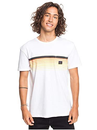 Quiksilver Herren Screen Tee Slab - Taschen-T-Shirt Für Männer, White, XL, EQYZT05793
