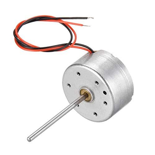 sourcing map Motor eléctrico DC 4,5 V 2000 rpm 0,02 A 2 hilos motor eléctrico eje redondo para RC barco