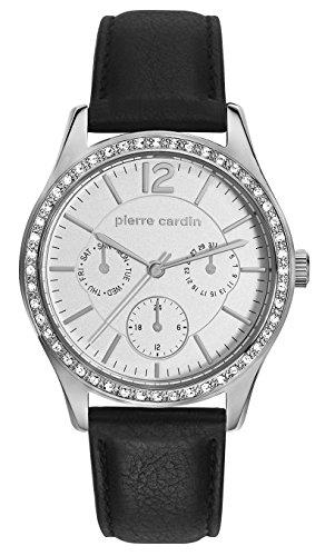 Pierre Cardin Reloj Multiesfera para Mujer de Cuarzo con Correa en Cuero PC106952F17