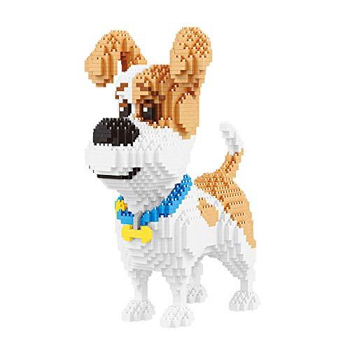 nano ladrillos bloques de construcción de partículas en miniatura juguete educativo conjunto de madera para mascotas-Mike Dog micro arquitectura
