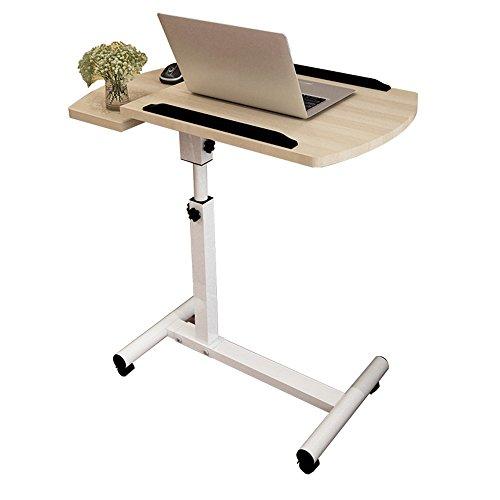 CHGDFQ Mesa de noche plegable para ordenador portátil, mesa de estudio, mesa de noche con ruedas (color: 1)