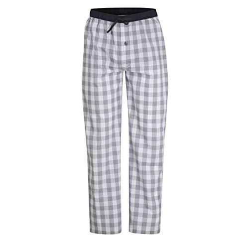Ceceba Herren Lange-Hose, Schlafhose, Pyjama-Hose - Baumwolle, Popeline, blau, kariert, mit Eingriff 54