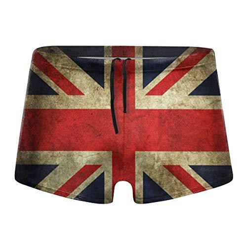 YYRR The Retro English Flag Hombres Traje de baño Bikini Swim Brief Board Shorts Surf Boxer Trunks Trajes de baño