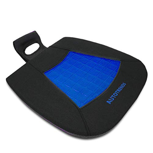 AUTOTRENDS-SJ164A016-1 Gel Seat Cushion Cooling Coccyx Orthopedic Breathable Car Seat Cushion Anti Slip Backing Mat, Black