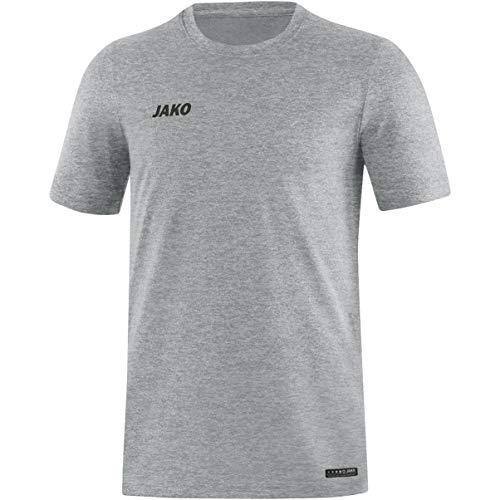 JAKO Herren T-Shirt Premium Basics, grau meliert, 4XL, 6129