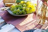 100%Mosel Tischläufer Samt, in Altrosa (28 cm x 5 m),Tischband aus Polyester in Matter Samt-Optik, edle Tischdeko für den Herbst & Winter, Dekoration zu besonderen Anlässen - 3