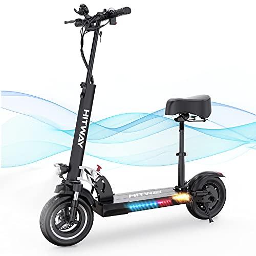 HITWAY Patinete eléctrico, 800 W, 43 km/h, 40 km, Scooter eléctrico Plegable con Pantalla LCD, batería de Iones de Litio de 10 Ah, para Adolescentes y Adultos (black01)