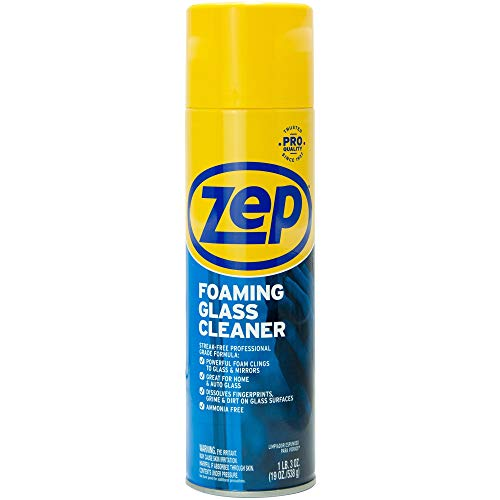 Zep, ZPEZUFGC19, Foaming Glass Cleaner, 1 Each, Black