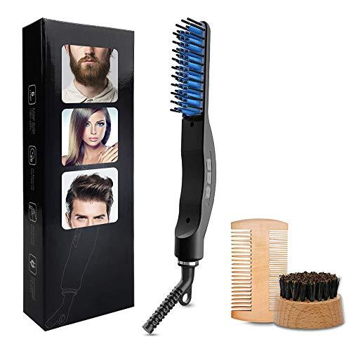Bartglätter Bürste Haar Glätter Kamm Elektrische Bartbürste 160-220℃ Thermobürste schnelle sichere Haarglättung für Männer und Bartträger