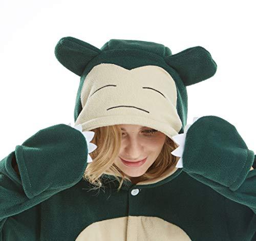 Jumpsuit Tier Pyjama Snorlax Onesie Fasching Halloween Kostüm Schlafanzug Cosplay Pyjama Erwachsene Damen Karneval Einteiler XL