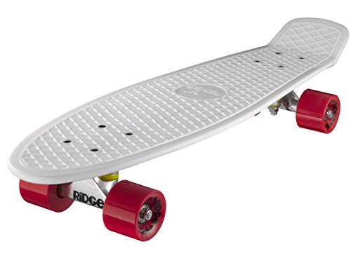 Ridge Skateboard Big Brother Nickel 69 cm Mini Cruiser, weiß/rot