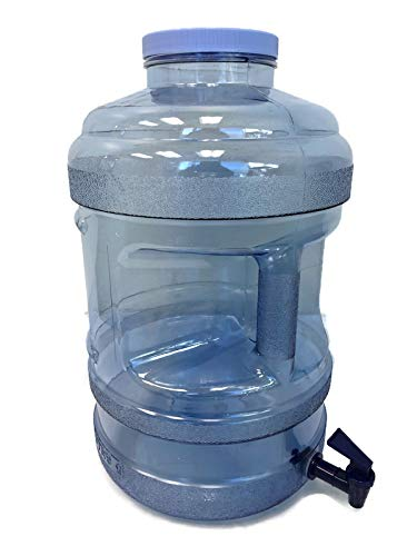 AquaNation BPA Free Water Bottle with Big-Mouth & Dispensing Valve Spigot, 5 Gallon Perfect for Home, Kitchen, Office, Sports Events, and Indoor Outdoor Activities